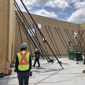 Mass Timber Warehouse Under Construction
